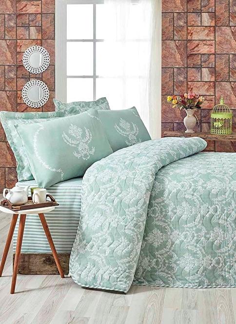 Eponj Home Çift Kişilik Yatak Örtüsü Yeşil